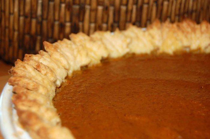 Autumn Leaf Pumpkin Pie