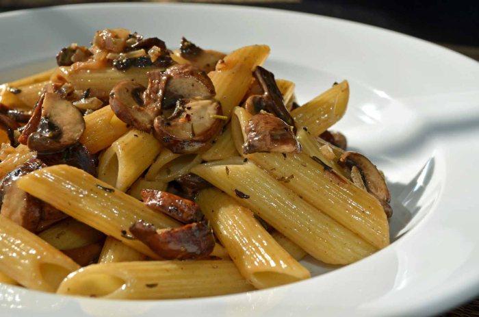 Mushroom Marsala with Penne Pasta